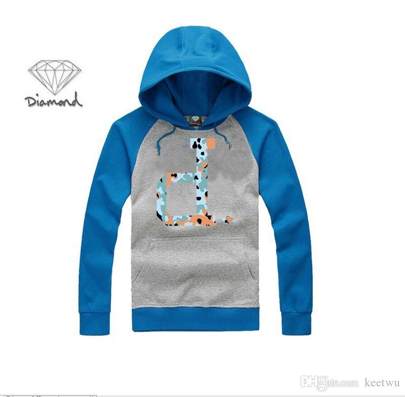 S-5XL new style Diamond Supply hoodie Men's Designer Fashion Casual Spell Color Sweatshirt Long Sleeve Male Clothing Factory outlet