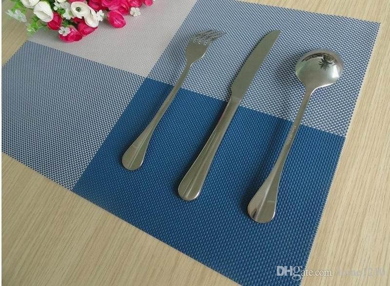 / termoaislante de Casa de los accesorios de la decoración cojín de la estera impermeable de PVC elegante vajilla de cocina Comedor Mantel Tazón
