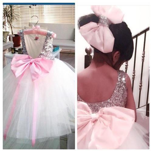 Robes de filles de fleur de grand arc pour les mariages