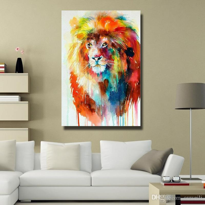 Handmade 2016 newest design africa wild animal oil painting for small business home decoration