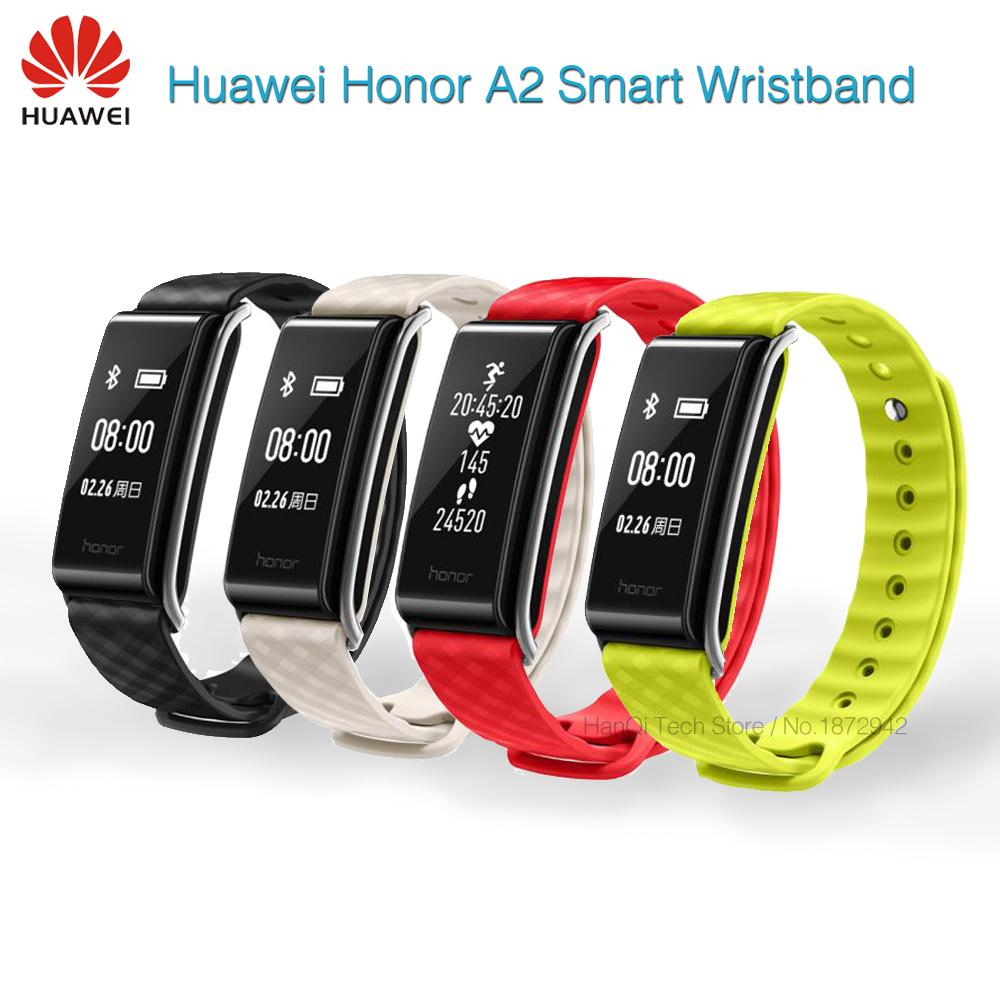 "In Stock Original Huawei Honor Color Band A2 Smart Wristband 0.96"" OLED Screen Heart Rate Monitor Show Message End Call IP67"