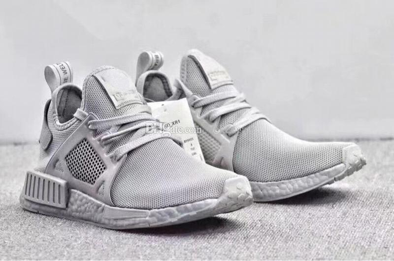 new concept 5f54c e317b Free Shipping Real Boost NMD XR1 Triple Grey Sneaker Men Sports Running  Shoes