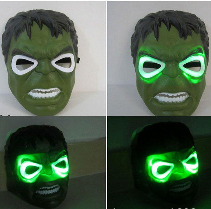 LED 가면 어린이 애니메이션 만화 스파이더 맨 가면 무도회 전체 얼굴 마스크 할로윈 의상 파티 선물 WX-C07