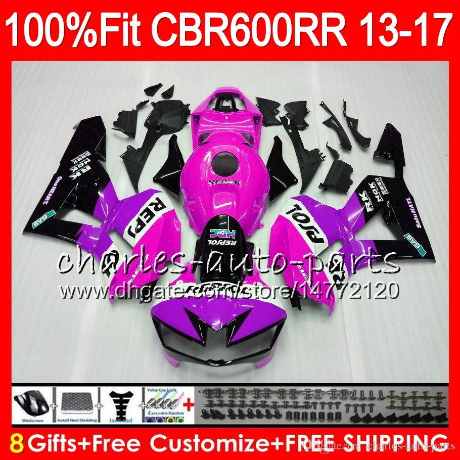 Injection Body For HONDA CBR 600 RR Repsol Pink CBR600RR 13 14 15 16 17 89NO25 CBR 600RR F5 CBR600 RR 2013 2014 2015 2016 2017 Fairing kit