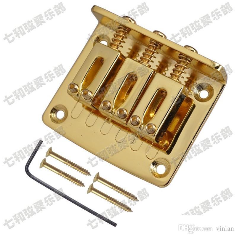 Три струны гитара мост хвостовик хром черное золото для выбора длины 50 мм музыкальные инструменты части