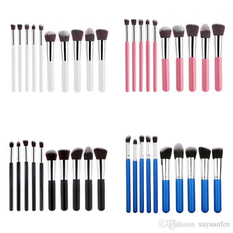10 unids / set Maquiagem Pinceles de Maquillaje Cosméticos de Belleza de Alta Calidad Foundation Blending Blush Maquillaje Kit de herramienta de Cepillo