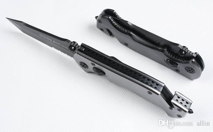Coltello pieghevole Sopravvivenza di grandi dimensioni SOG Phantom Firebird di grande qualità 440 Coltello tascabile EDC 440 57HRC Titanium Blade con scatola di vendita al dettaglio