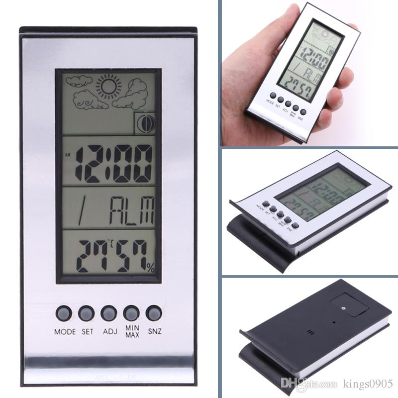 Electronic Temperature Humidity Meter Alarm Clock Snooze Forecast Calendar Wireless Weather Station Indoor Outdoor