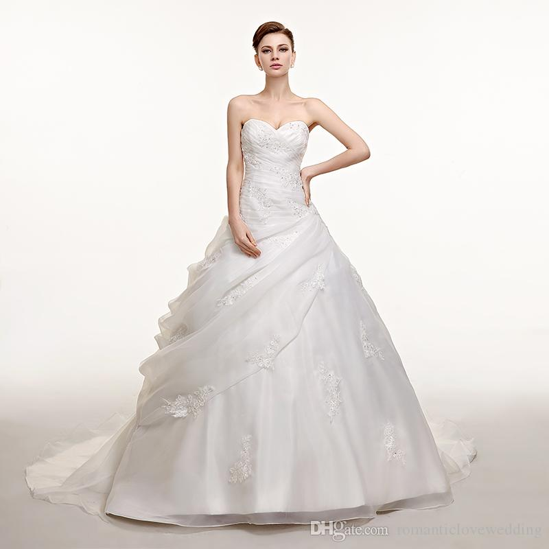 Custom Made! Simple New Sweetheart Applique Ball Gown Curved ...