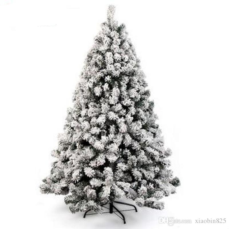 15m 150cm sticky white snow flocking christmas tree hanging sticky ornament holy motel shopping mall home decoration christmas ornament decorations - White Flocked Christmas Trees