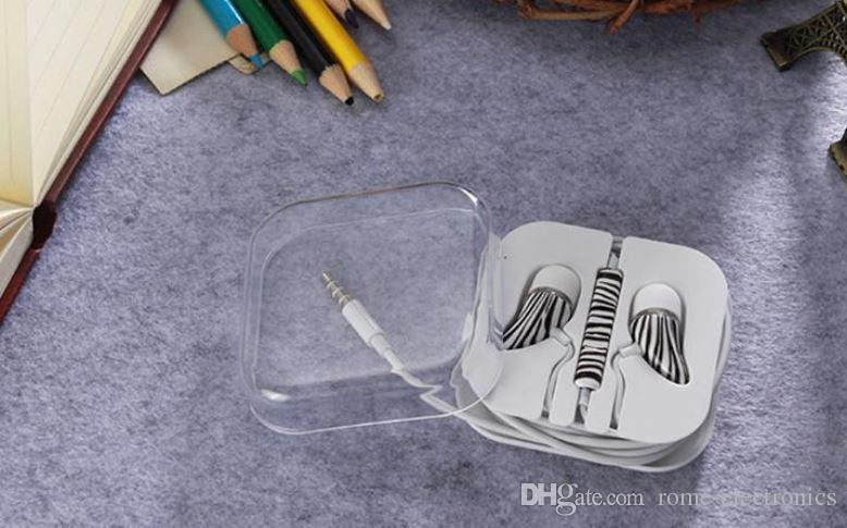 3.5mm Universal In-Ear Color Auriculares de Dibujo DJ Música Colorido Electroplate Auriculares Con Micrófono Auricular Para iPhone Sausung LG Teléfono Inteligente