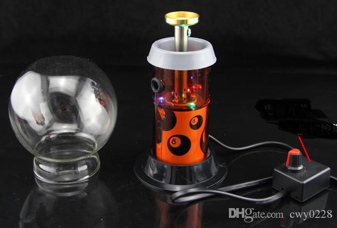 Calentador eléctrico de evaporador de tabaco ---- 220v - Fumar Manipulación de tuberías Pipas de fumar Reciclador soplado a mano Mejor quemador de aceite, entrega aleatoria de color