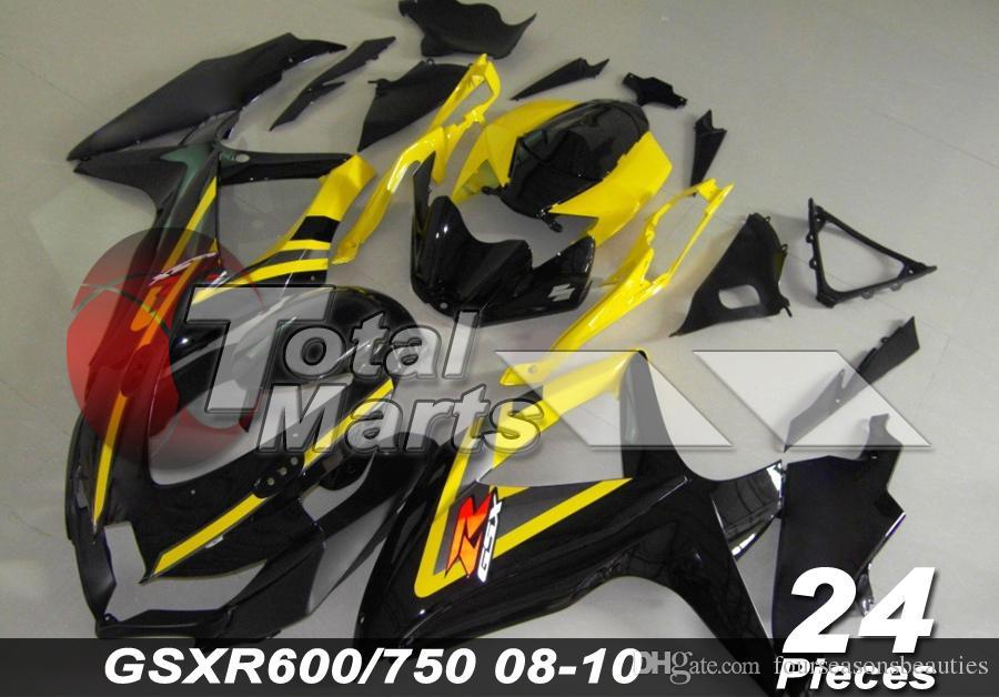 Обтекатель для SUZUKI GSXR GSX-R 600 750 2008 2009 2010 K8 впрыска ABS Красный 10 синий 19 Белый 22 черный 24 оранжевый 32 желтый 38 зеленый 67 Золотой 44