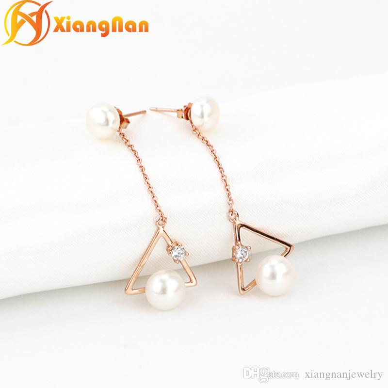 jewelry for drop dangle from product xiangnanjewelry sterling xn earrings earring ear ladies fashion long pearl pearls silver freshwater