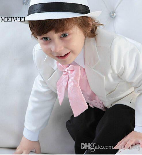Fashion Boy's Formal Occasion Light Suit Little Men Wedding Tuxedos Boy Party Birthday Suits custom made