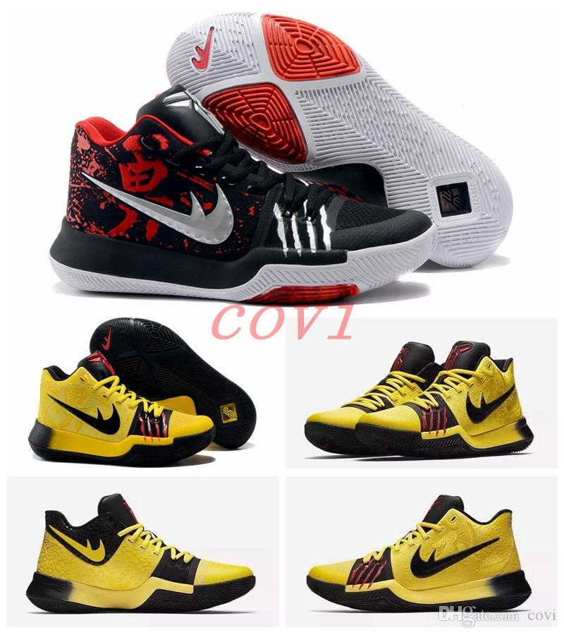 the latest f3994 7e2f6 Compre Muchos Colores 2017 Kyrie 3 Bruce Lee Samurai Black Ice Ivory Cool  Gray White Multicolor Zapatos De Baloncesto Para Hombre Black Gold  Christmas ...