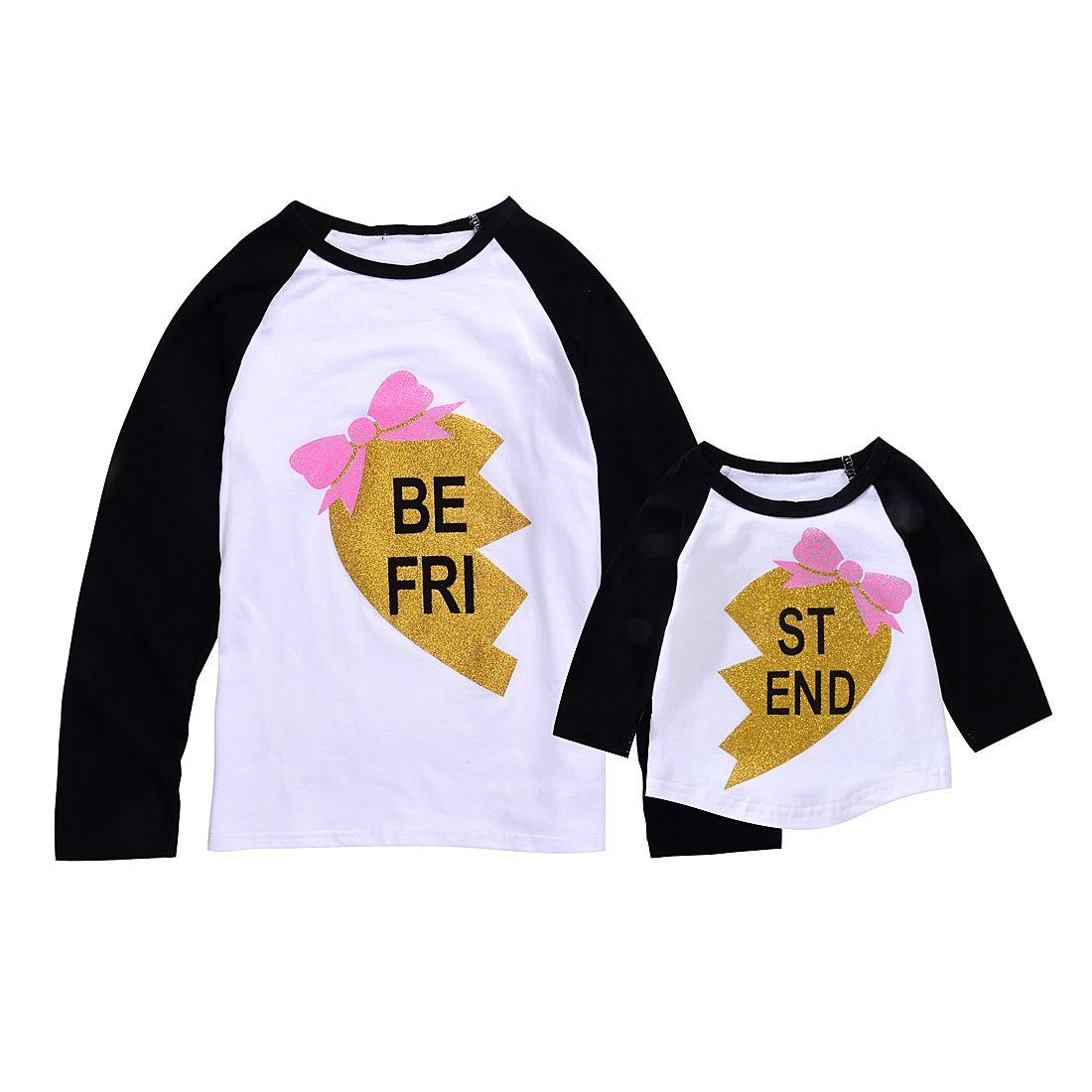 d824b2bc0561 Mikrdoo Best Friends Family T Shirt BE FRI ST END Letters Printed T ...