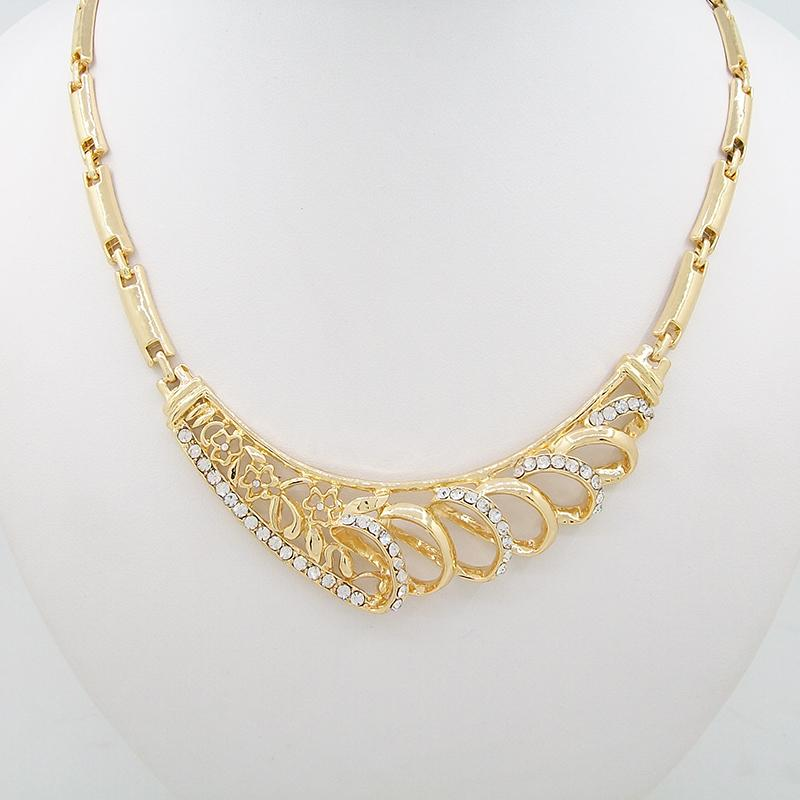 Gold Wedding Jewelry Sets Necklace