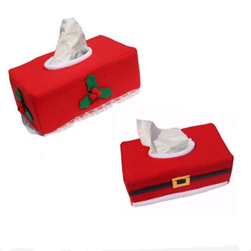 Merry Christmas Tissue Box Cover Christmas Decorations For Home New Year Napkin Holder Christmas Decoration Supplies TT206