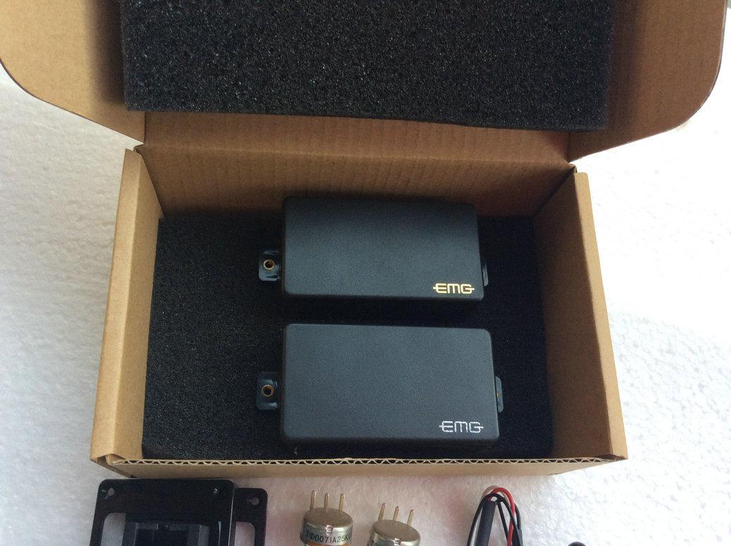 EMG 81/85 Pastillas activas con 2 piezas 25k conjunto completo de la línea de partes de guitarra en Stock