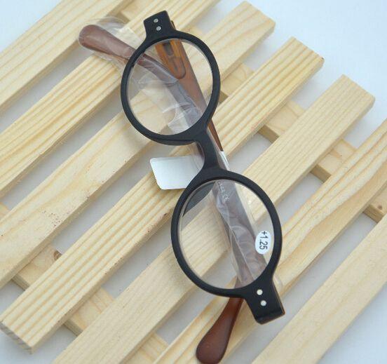 Lunettes de lecture rétro rondes en acétate pour hommes, rondes avec rivet /