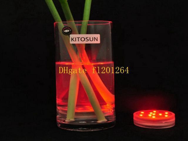 50 unids Envío Gratis RGB Multicolors Control Remoto es Sumergible LED Light Wedding Paryt Impermeable LED Florero Base Light