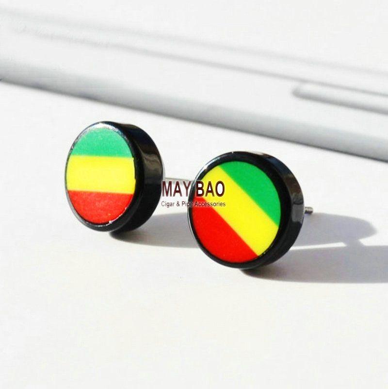 Großhandel Bob Marley Ohrstecker Ohrringe Magnesium Bling Sterling