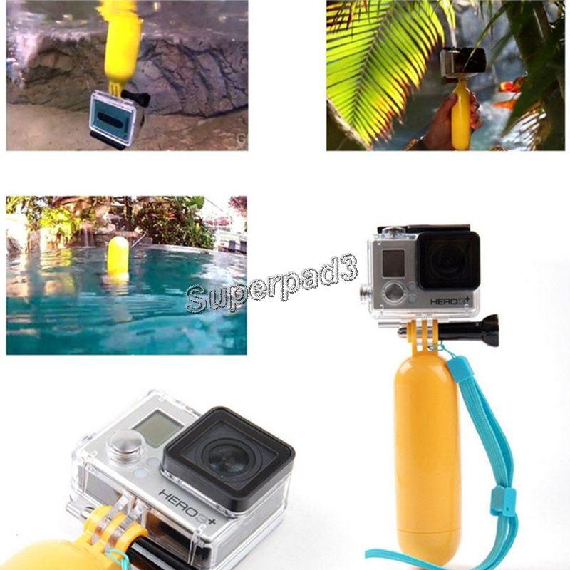 Mini Portátil Floaty Bobber com Cinta Flutuante Mergulho Flutuabilidade Câmera Grip Handle / Punho Montar Vara + Parafuso para GoPro Hero 3 +