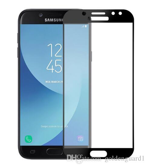 huge selection of 055b7 b79c0 For Samsung J7 Pro Tempered Glass Screen Protector for Samsung Galaxy J3 J5  J7 Pro C5 C7 C9 Pro J7 Max 9H Hard Silk Print Full Cover Glass