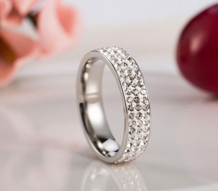 Brand New 316L Stainless Steel Couple Rings For Women Men CZ Zirconia Rings New Women Charm Jewelry