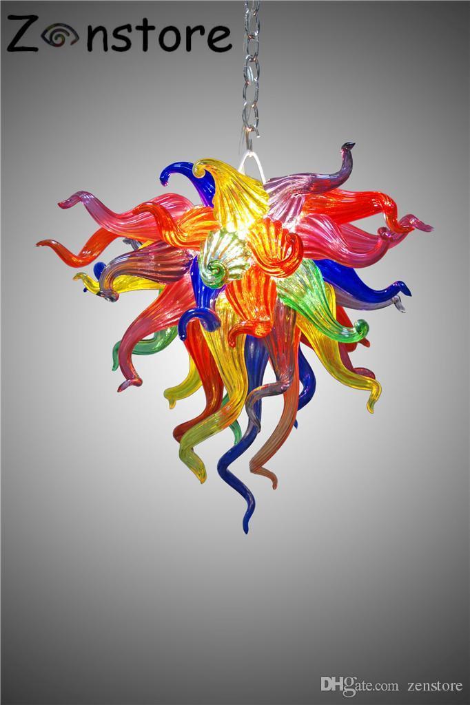Fancy Art en verre Lampe Petite fleur multicolore Lustre pour la maison Lit Chambre Enfants Chambre 20inches en verre de Murano Lustre