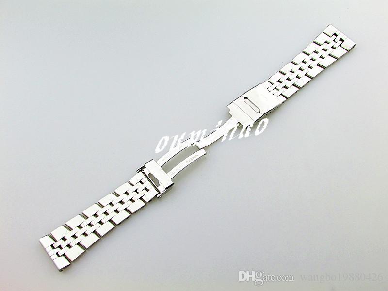 22mm 24mm erkek Yeni Yüksek kalite paslanmaz çelik Parlatma Izle Bantları Bilezikler Breitling Izle