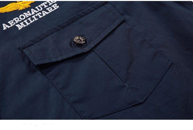Neue Air Force One Fleece Dickes Hemd Männer Marke Baumwolle Military Enthusiasten Stickerei MA1 Langarm Warm Shirts Flug Uniform