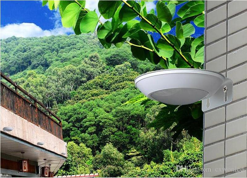 LED solar porch lights radar motion sensor wall Lamp 2W LEDs pure white Street Light Wall/Garden Lamp