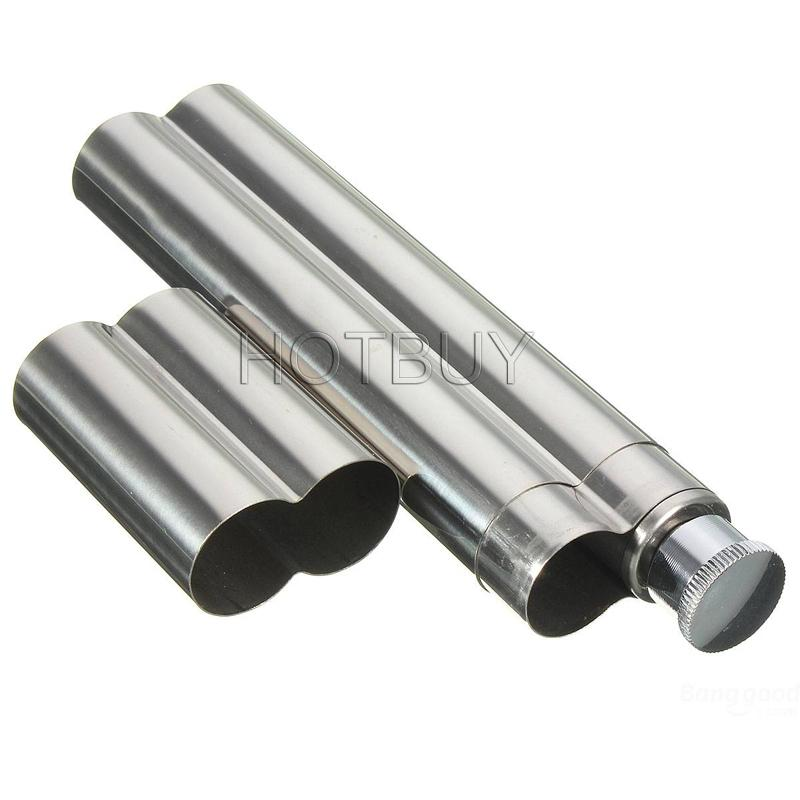 Silver Stainless Steel Cigar Tube Tobacco Holder Smoke Travel Case Container #3789