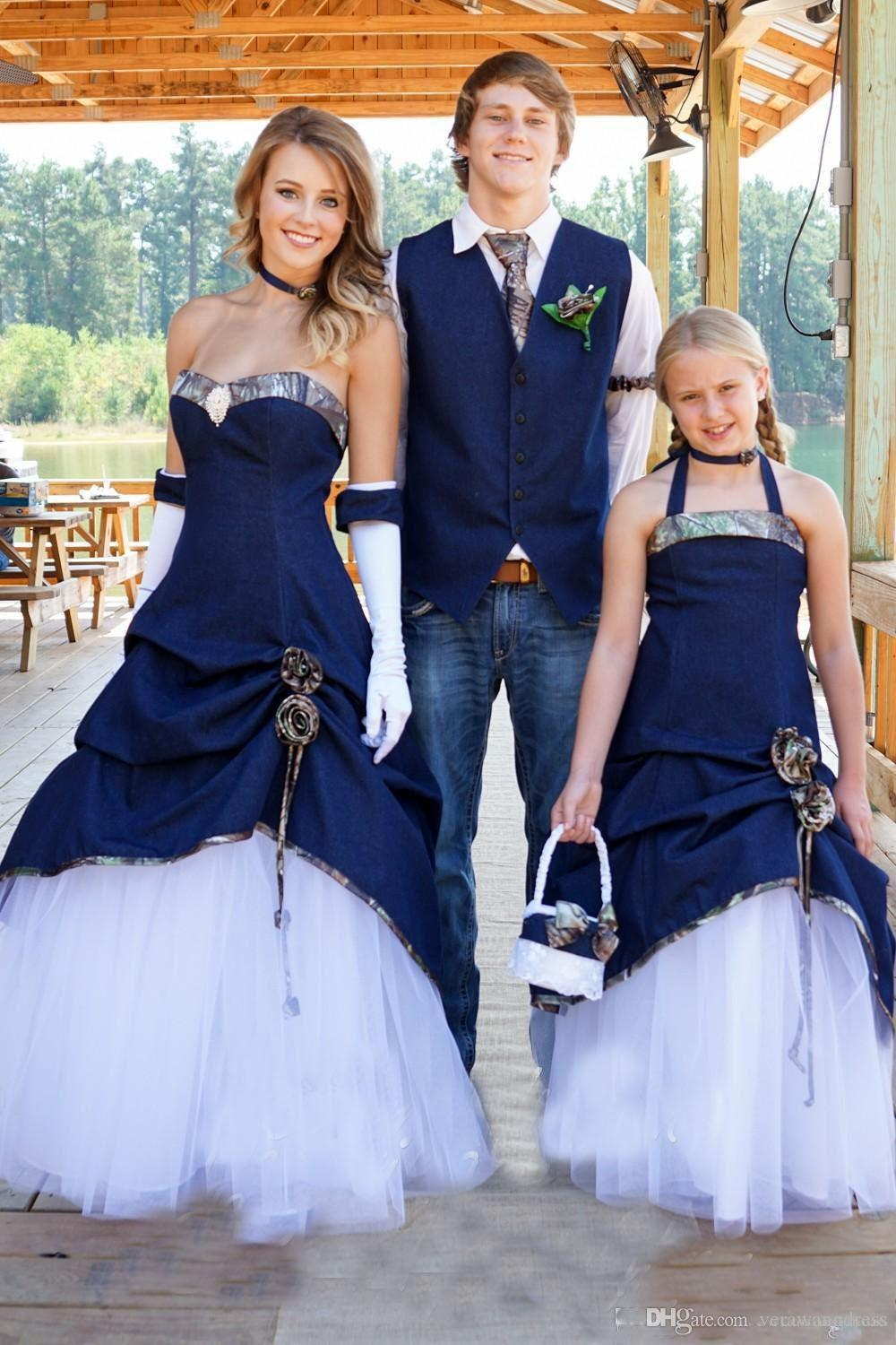denim and lace wedding dress new designer cowboy camo wedding dresses 3477