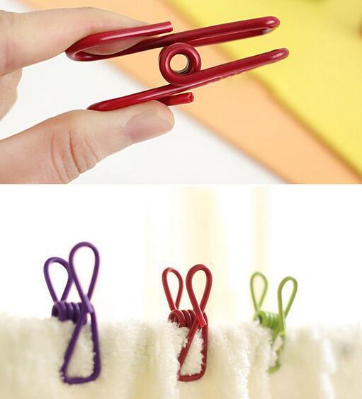 New Arrive Colorful Metal Binder Clips Paper Clip Bag Clip Hanger Sealer Color Random 5.5 cm