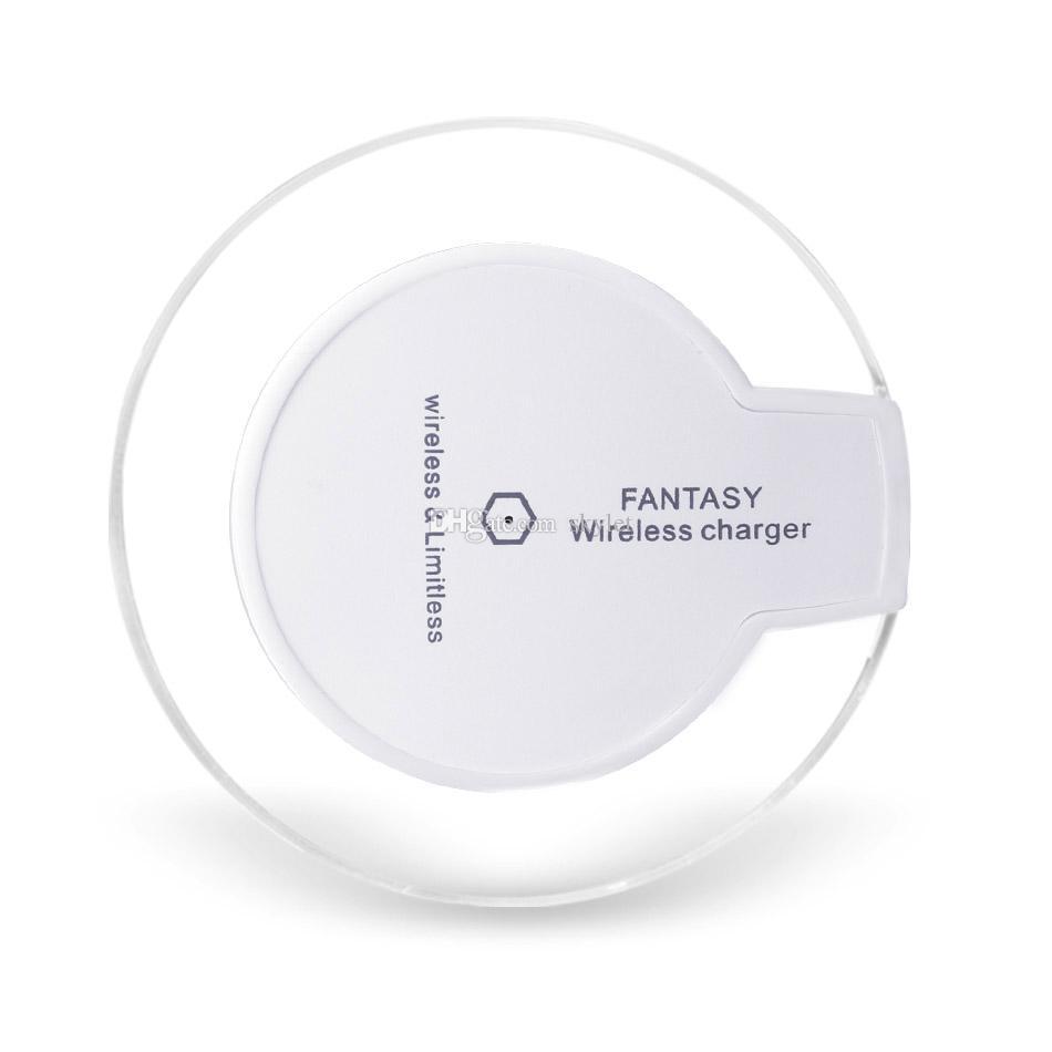 Qi Wireless-Ladegerät für Iphone X 8 8Plus Mini-Slim-Wireless-Ladegerät für Samsung S8 S8 Plus S9 S9 Plus mit Kleinpaket