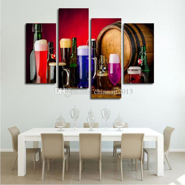 Modern Fashion HD Print Painting on Canvas Wine Glass Wall Art Pictures for Kitchen Dining Room Home Decoration