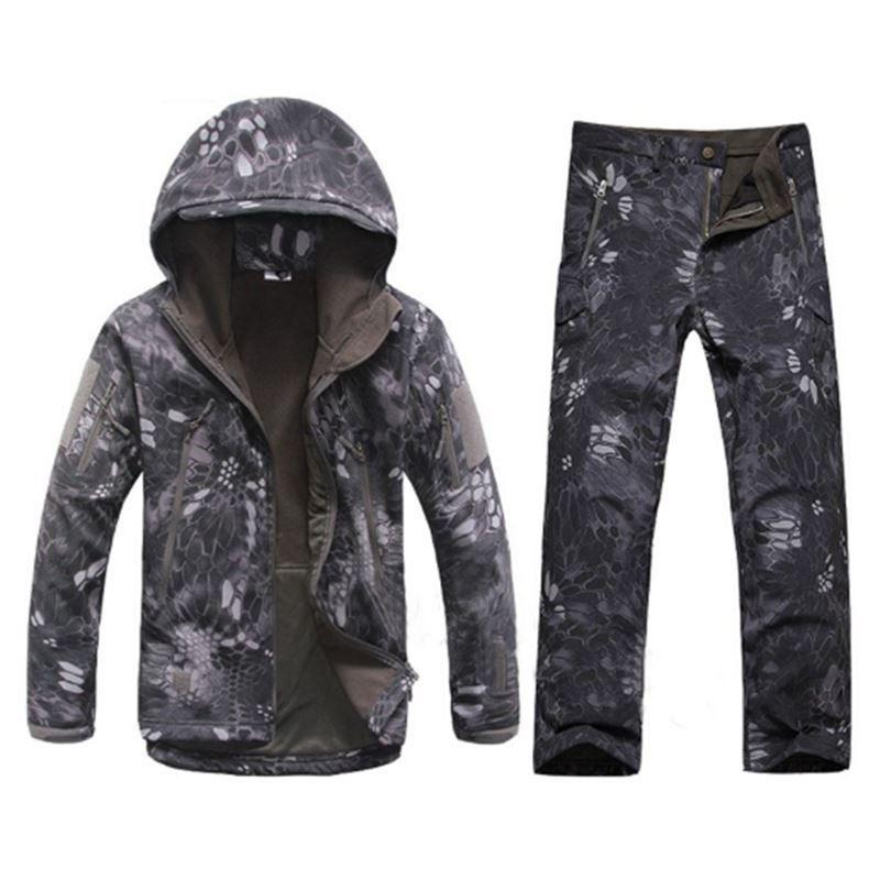 1a524ef1b54e Winter Autumn Waterproof Shark Skin Softshell Jacket Set Men ...