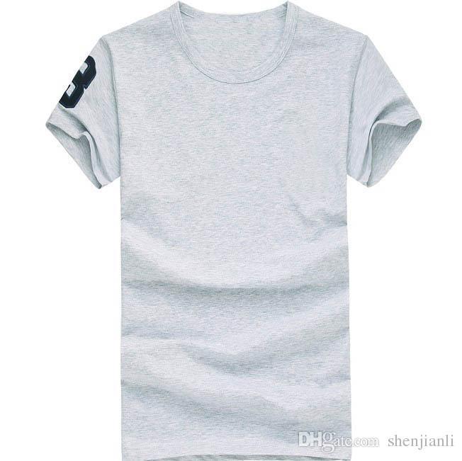 Freies verschiffen 2016 Hohe qualität baumwolle neue Oansatz kurzarm t-shirt marke männer T-shirts casual stil für sport männer T-shirts