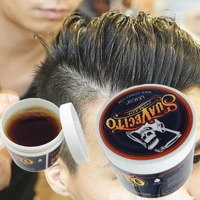 Hair Styling Oil Men 2018 Hot Selling Retro Strong Hold Style Hair Pomade Wax Oil Mud .