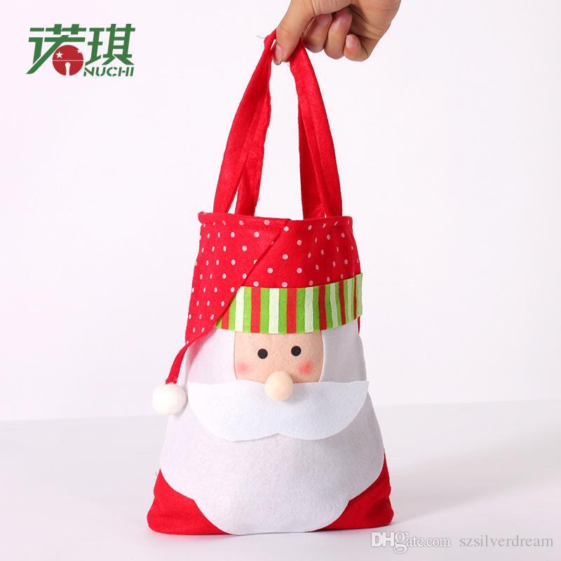 Cheap Teachers Christmas Gifts Best Crochet Christmas Gifts for Kids  sc 1 st  DHgate & Big Festival Christmas Kidu0027s Gift Bags Portable Christmas Candy ...