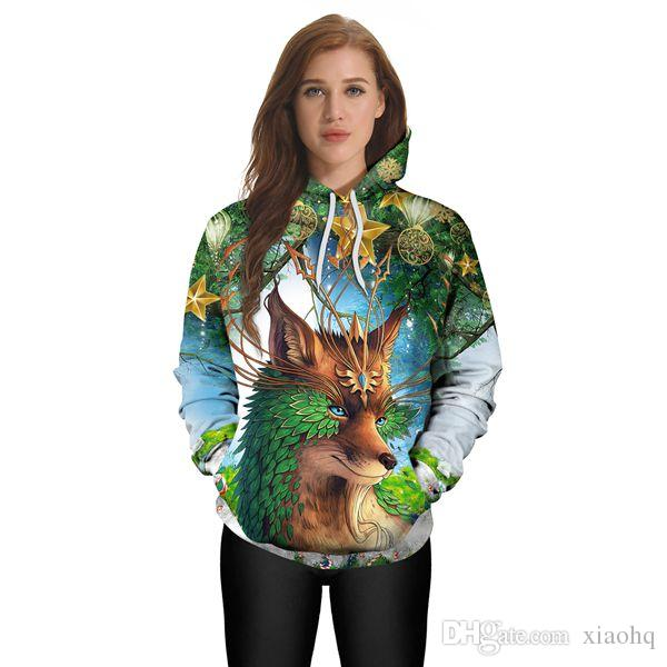 Fashion 3D Hoodies Printted Mary Christmas foxes Men/Women Personality sweatshirt Printed Sweatshirt Hooded Unisex Tops
