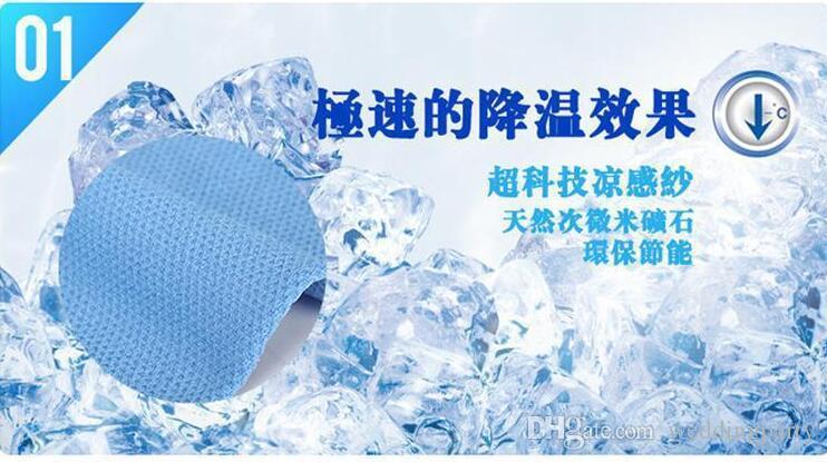400 pezzi economici asciugamano freddo esercizio sudore estate asciugamano ghiaccio 80 * 16 cm spedizione gratuita sport ghiaccio fresco asciugamano PVA ipotermia asciugamano di raffreddamento