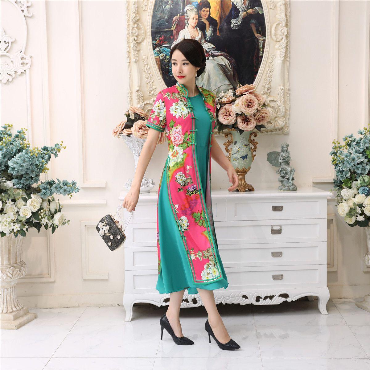 2018 shanghai story red vietnam aodai chinese traditional