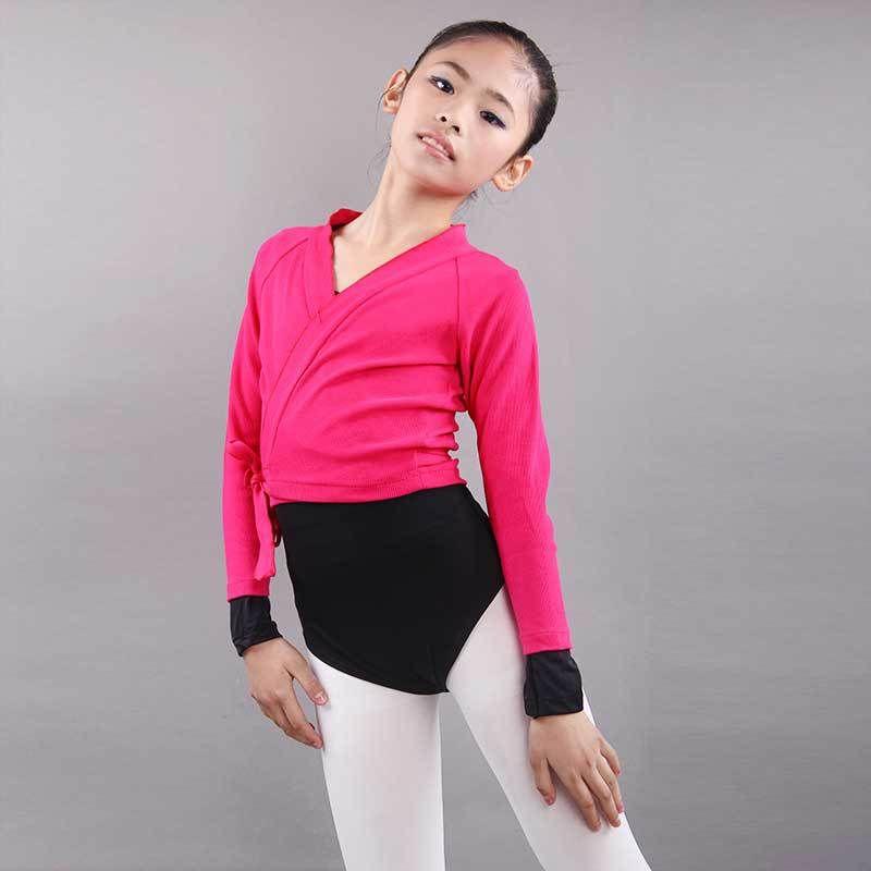 Compre Tallas Grandes Ballet Dance Top Coat Para Niñas Otoño ...
