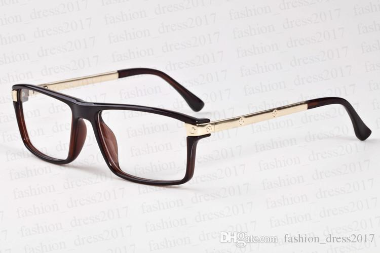 Hommes lunettes de soleil pour les femmes en corne de buffle lunettes lentille miroir rectangulaire clair avec boîte en fer noir lunettes lunettes de soleil bon marché Lunettes Gafas