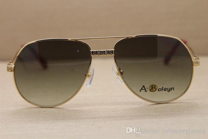 고의 quanlity 공장 직접 판매 1,324,912 선글라스 야외 운전 안경 패션 C 장식 골드 프레임 안경 크기 : 58-16-140mm