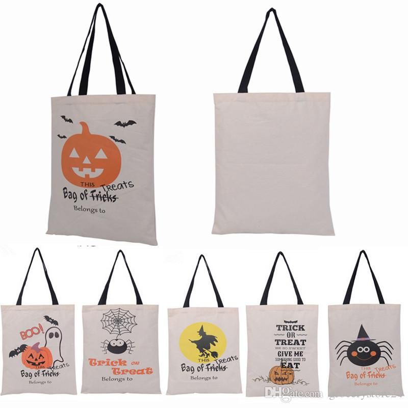 6 Types 2016 New Halloween Tote Bags With Black Handle Pumpkin Christmas  Shopping Bags Festival Gifts Bag For Women Holiday Decorations For Sale  Holiday ... e5b40dbbf4